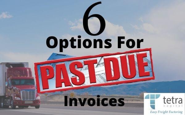 As empresas de transporte têm 6 opções para faturas vencidas