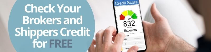 Credit checks on brokers and shippers for free