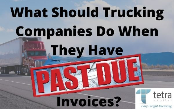 ¿Qué deben hacer las empresas de transporte cuando tienen facturas vencidas??